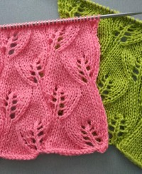 Leaves Knitting Stitch Pattern