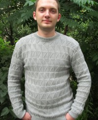 Men's Sweater in Fancy Pattern