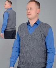 Men's Vest with Diamond Pattern