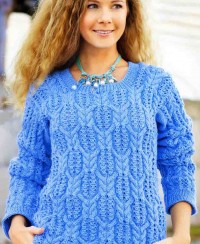 Warm Pullover in Fancy Pattern