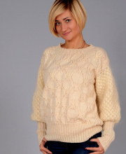 Pullover with Star Pattern