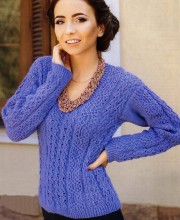 Pullover in Lace Pattern