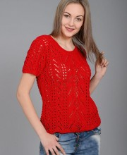 Pullover in Lace Patterns