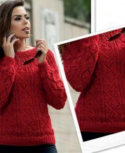 Pullover in Lace Diamonds