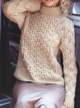 Pullover with bobbles
