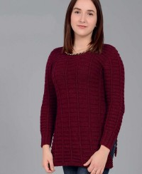 Pullover in Textured Pattern