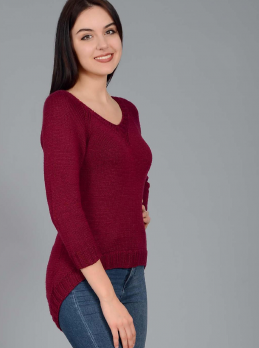 Raglan Pullover with Long Back