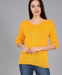 Pullover in Eyelet Pattern