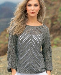 Pullover in Lace and Jagged Pattern
