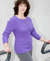 Pullover in Textured Diamonds Pattern