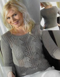 Center Lace Pattern Pullover