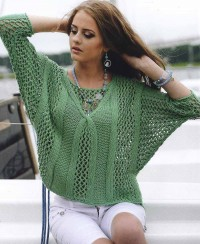 Pullover with Lattice Pattern
