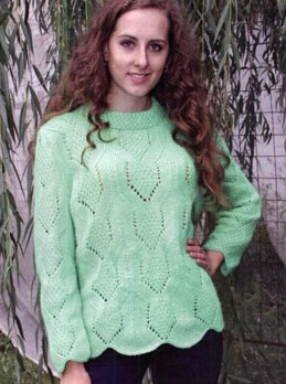 Pullover with Figured Edging
