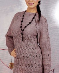 Raglan Pullover in Fancy Pattern