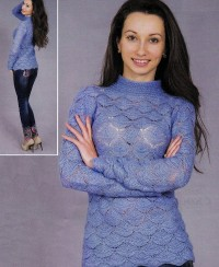Pullover in Wavy Pattern