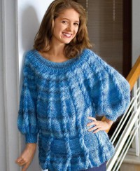 Long Pullover with Cables