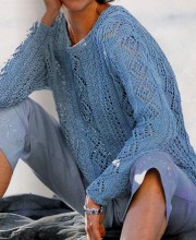 Blue Pullover (knitting)