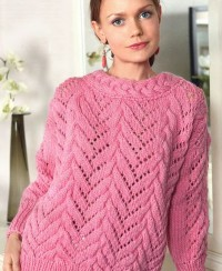Lace Pullover with Cables