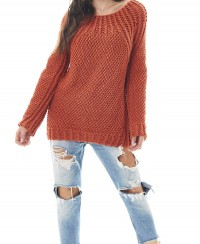 Pullover with Lace Cable Yoke