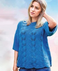 Summer Pullover in Lace Pattern