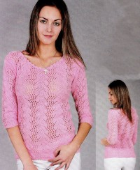 Pullover in Leaf Pattern