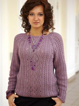 Lace Mix Pattern Pullover