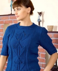 Pullover with Tulip Pattern