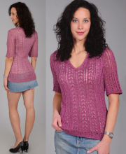 Lace V-Neck Pullover