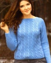 Raglan Cabled Pullover Pattern