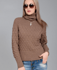 Pullover with Diamond Pattern
