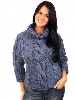 Pullover with Cables
