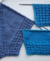 Raglan Line and Border in Fancy Rib Stitch Pattern
