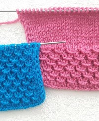 Fancy Rib Stitch Knitting Pattern