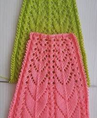 Knitting pattern for round yoke