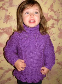 Sweater with Leaves Patterns (Toddler Girls)