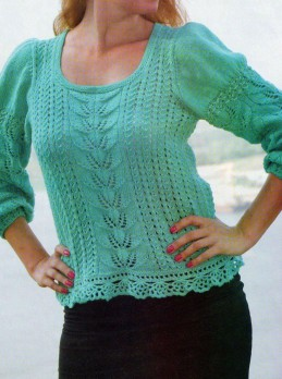 Balloon sleeve sweater (turquoise)