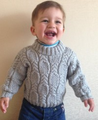Cable and Seed Stitch Baby Sweater