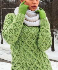 Sweater in Diamond Pattern