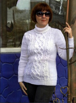 Sweater with Cables