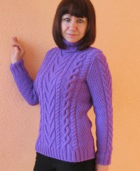 Pullover with Cable Pattern