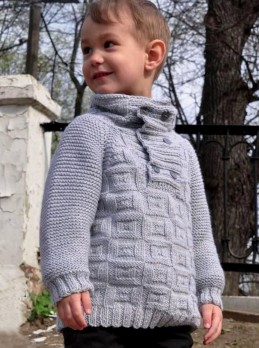 Boys' Sweater in Textured Pattern