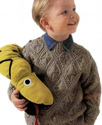 Boys' Pullover in Fancy Pattern