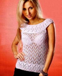 Round Yoke Lace Top