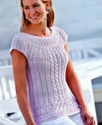 Pullover with Round Yoke