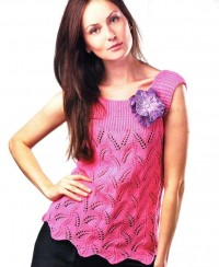 Pink Top with Lace Pattern