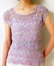 Lavender top crochet and knitting