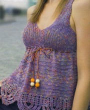 Purple Top (knit and crochet)