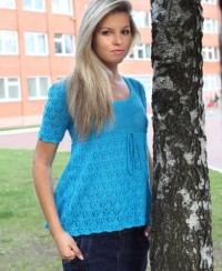 Tunic with Lace and Lattice Pattern