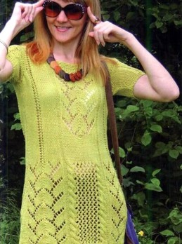 Tunic with Lace Patterns