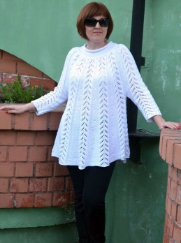 Tunic with Lace Pattern